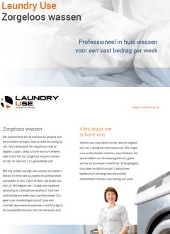Afbeelding brochure Laundry Use